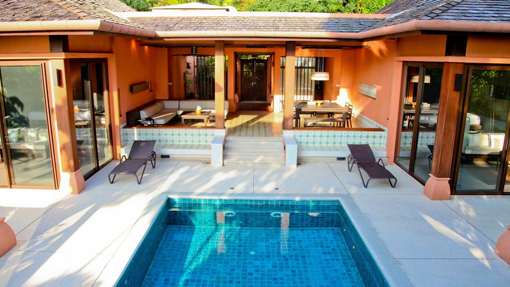 2br family suite garden sri panwa luxury hotel phuket for Family garden pool